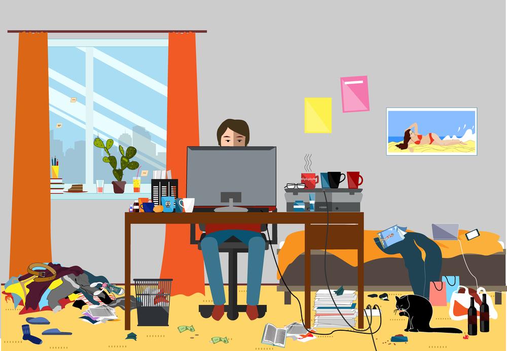 デスクトップが汚い人はワンルーム生活です【部屋を作ろう】