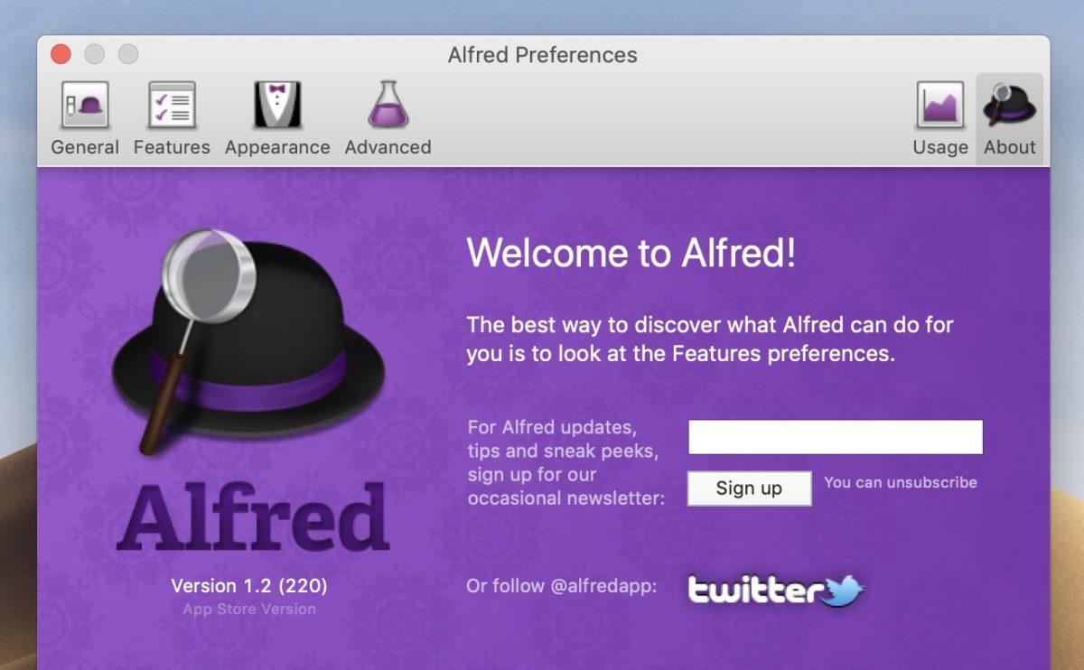 『Alfred』を使って、さらに便利な環境にする