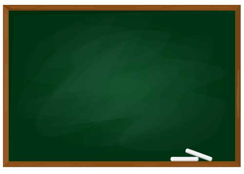 黒板の画像の上に、文字を掲載する