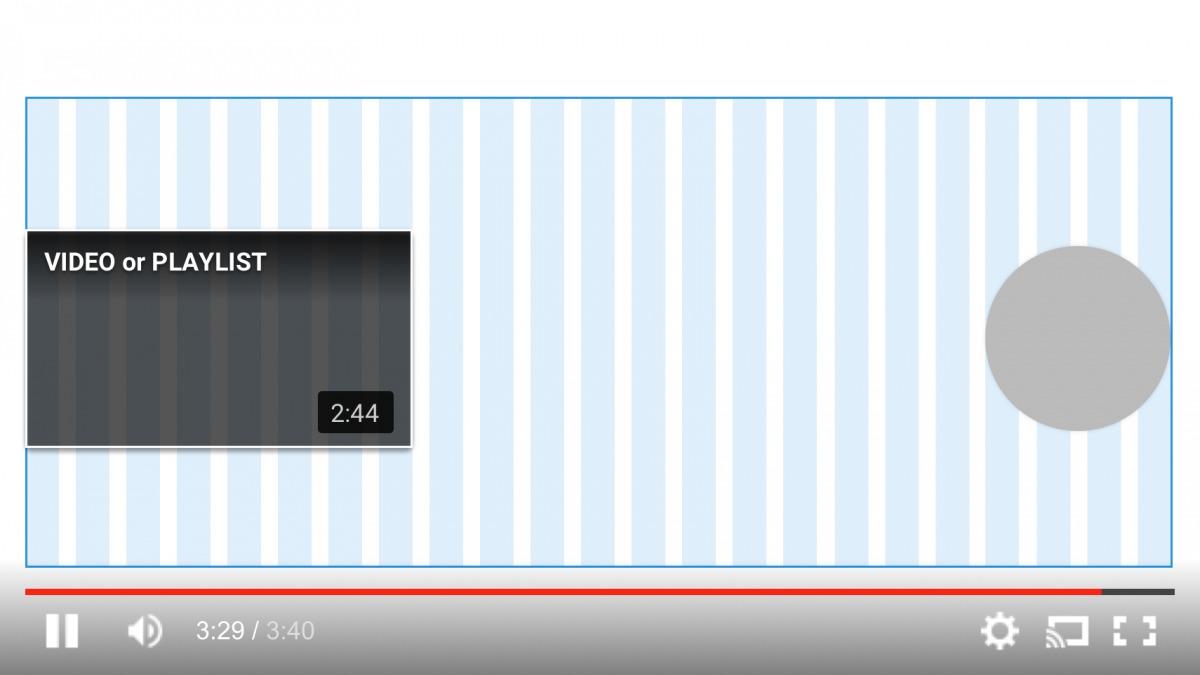 枠線の中に、次の動画やチャンネル登録スペースを入れる